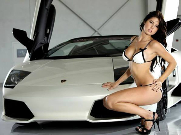 Hot Models With Branded Cars 029429 Pg
