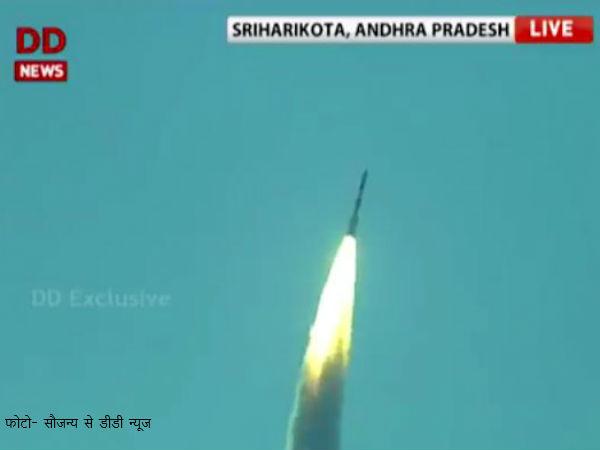 Isro Launches Pslvc34 From Sriharikota