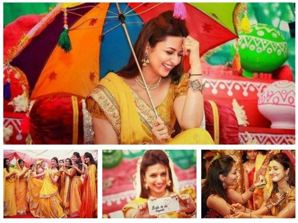 Divyanka Tripathi Glows Yellow Lehenga At Haldi Ceremony