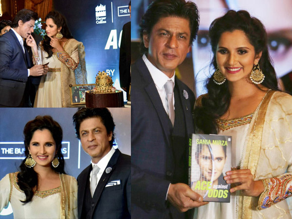 Shahrukh Khan At The Launch Of Sania Mirza Autobiography