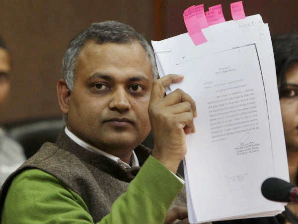 Fir Against Aap Mla Somnath Bharti For Misbehaving With Women