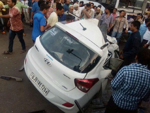 Ahmedabad Nehru Bridge Fatal Accident 2 Dead