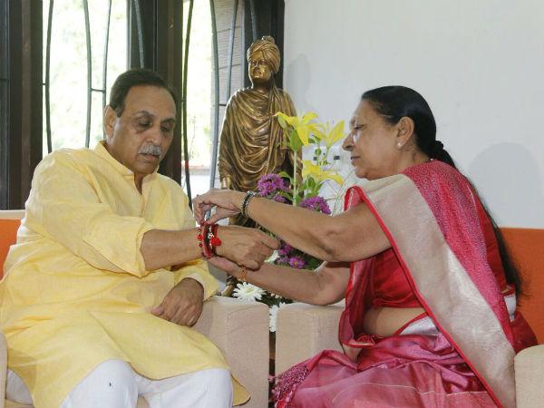 Raksha Bandhan See Photos Narendra Modi Vijay Rupani Sister
