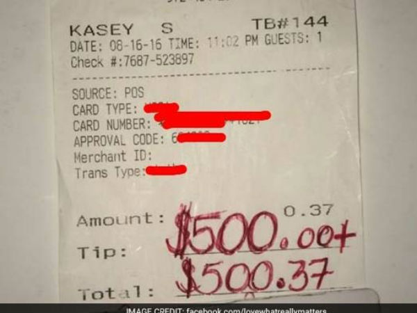 Waiter Got 500 Doller Tip Reason Behind This Melt Your Heart