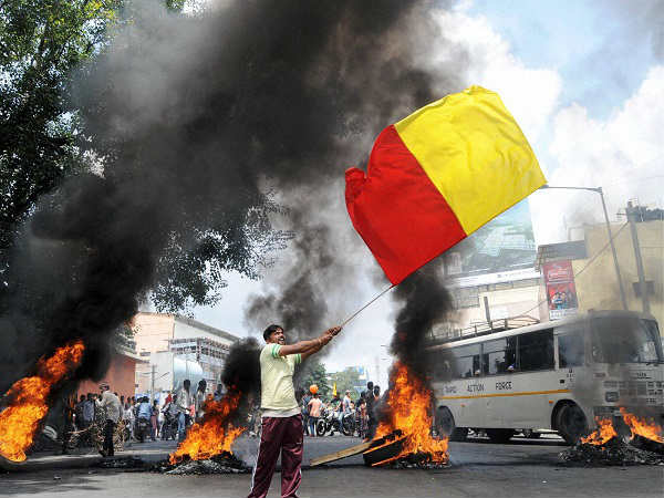 Cauveryprotest 15 0000 Police Men Officers Have Been Deploye