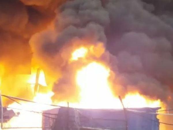 Heavy Fire At Yarn Making Factory In Surat