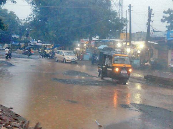 Heavy Rain Fall In Gujarat