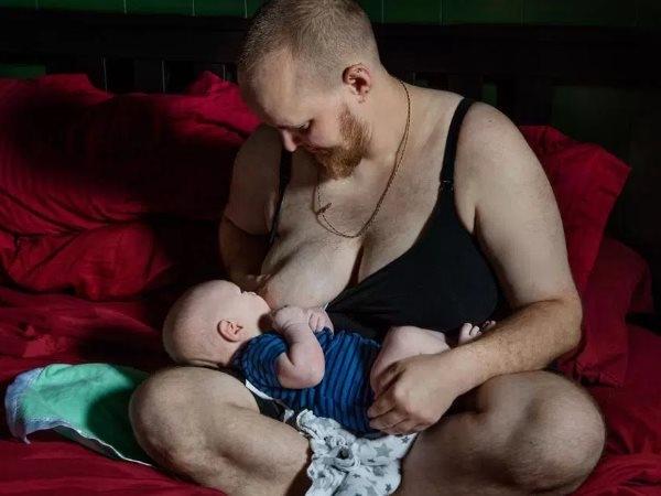 Transgender Man Gives Birth Child Breastfeeding