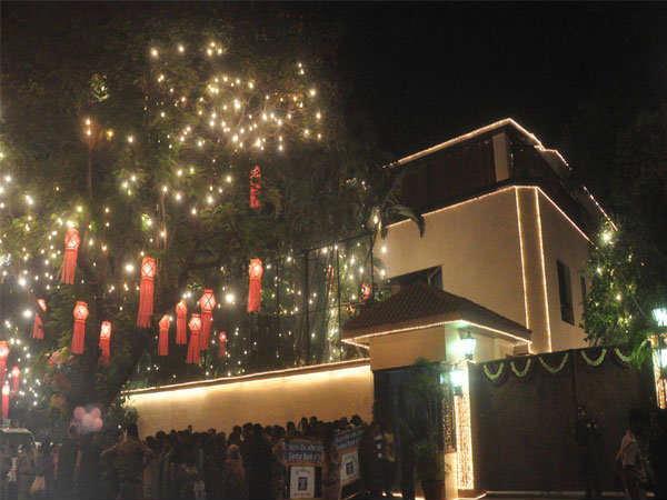 Bollywood Star Bungalows Diwali Decoration