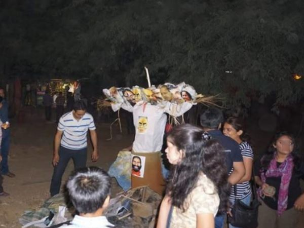 Pm Narendra Modi Effigy Burnt Jnu