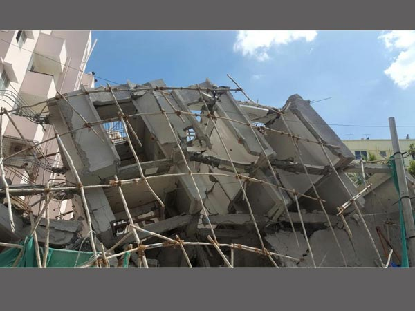 Storey Building Collapses Near Hsr Layout Police Station