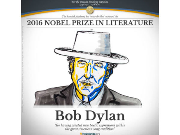 The 2016 Nobel Prize Literature Is Awarded Bob Dylan
