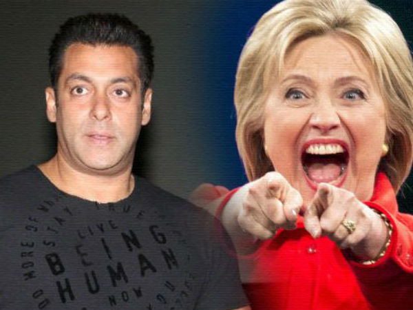 Superstar Salman Khan Has Come In Support Hillary Clinton Pr