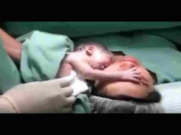 Viral Video When Cry Of A Newborn Baby Brings The Death Mother Life Back