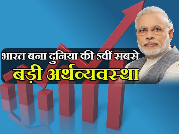 ભારત વિશ્વની 5મી સૌથી મોટી અર્થવ્યવસ્થા
