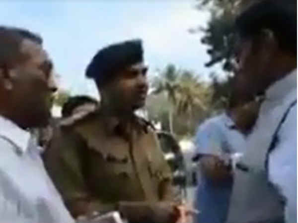 Anand Mla Bullying The Police Video Viral