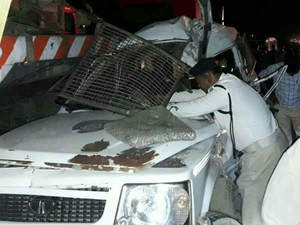 Accident Police Jeep Dhangadhra Gujarat Jawan Dead