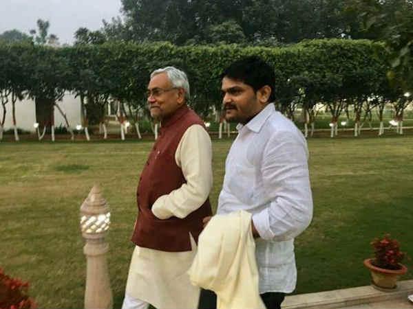 Hardik Patel Nitish Kumar Set Unite Against Pm Modi His Home