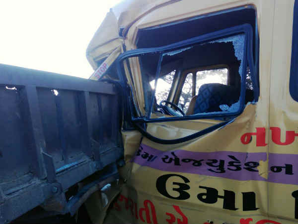 School Bus Accident Kutchh 2 Children Serious
