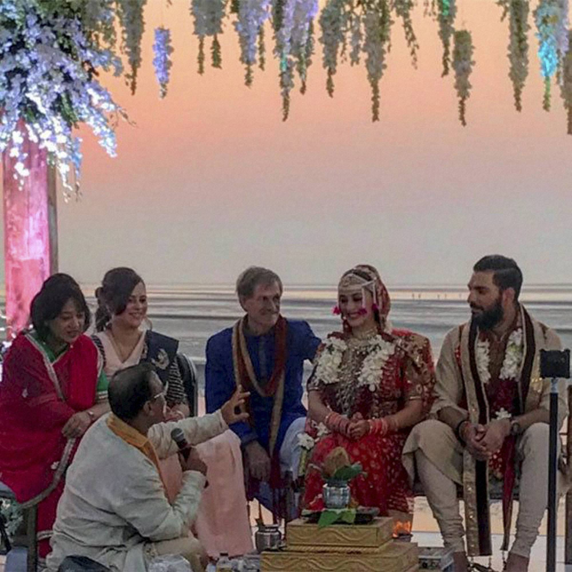 Virat Kohli Anushka Sharma Attend Yuvraj Hazel Goa Wedding