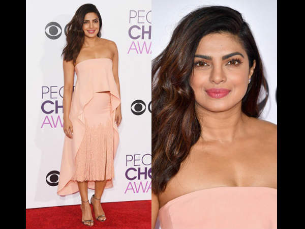 Priyanka Chopra Bags Peoples Choice Award For Second Time See Her Red Carpet Pics