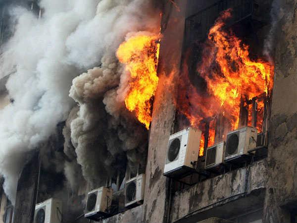 Fire At Fortune House Navrangpura Ahmedabad