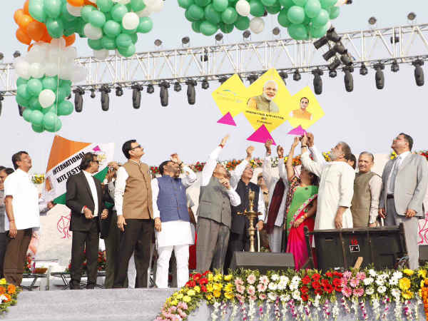 Chief Minister Vijay Rupani Inaugurates International Kite F