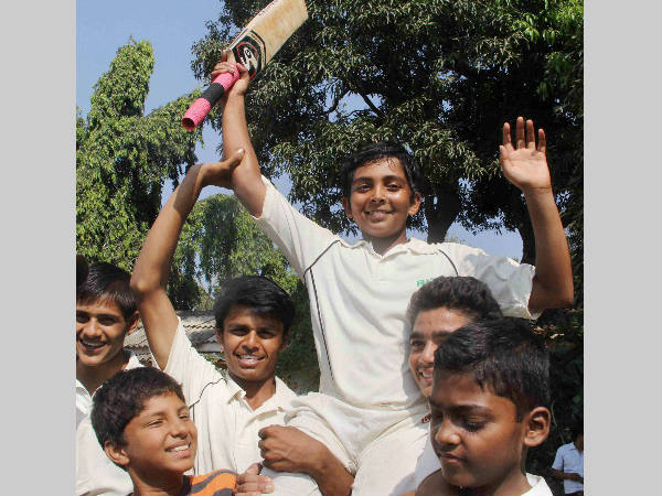 Ranji Trophy Mumbai Cricketer Prithvi Shaw Joins Sachin Tend