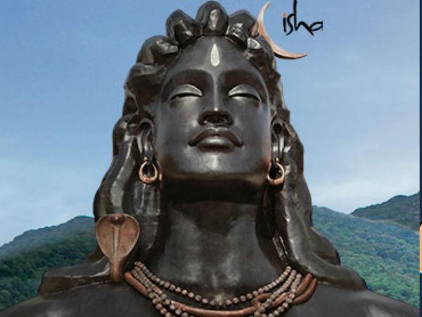 Pm Modi Unveils 112 Foot Tall Shiva Statue In Coimbatore Tamilnadu