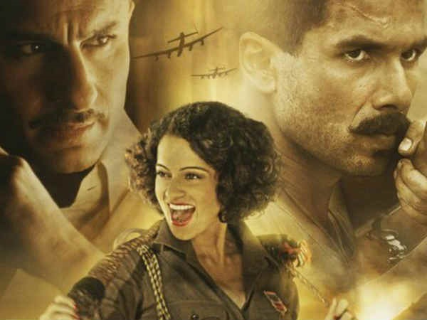 FilmReview: 3 હીરોવાળી ફિલ્મ 'રંગૂન'નો બેસ્ટ હીરો કંગના રણાવત