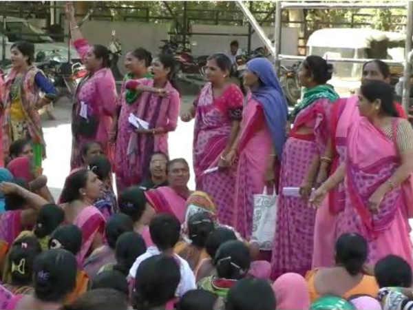 Anganwadi Disagreement Between Anganwadi Ladies Workers