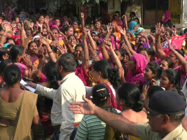 Anand Anganwadi Worker Protest Rally Increase Their Salary