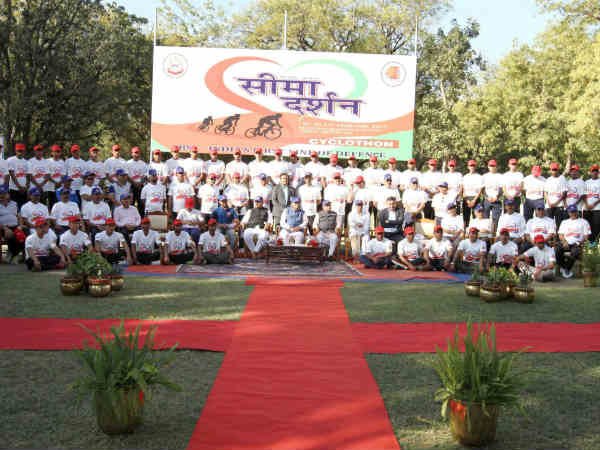 Cm Vijay Rupani Flagged Seema Darshan Cyclothon