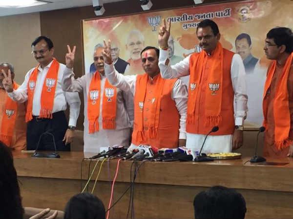 Vijay Rupani Gujarat Bjp Workers Celebrate Party Victory