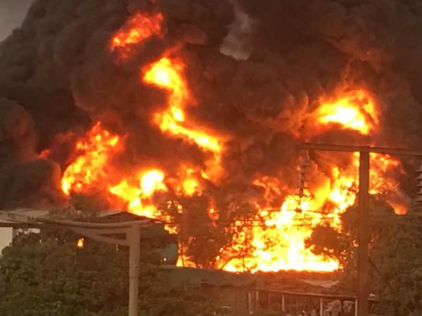Fierce Fire The 3 Districts Of Gujarat