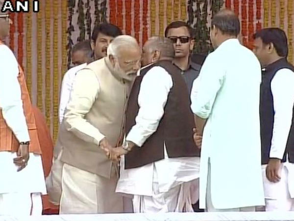 Video Yogi Adityanaths Oath Taking Ceremony Modi Ears To Mulayam Pats Akhilesh