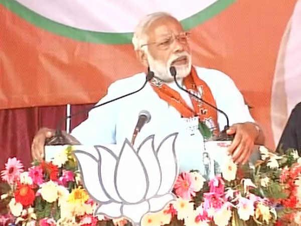 Prime Minister Narendra Modi Starts His Road Show Address Rally