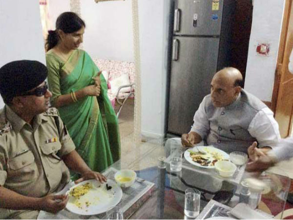Rajnath Singh Met Bsf Officer Mp Tekanpur