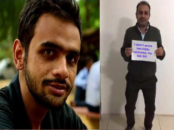 Umar Khalid Supports Gurmehar Says Sehwag Represents Bcci Not India