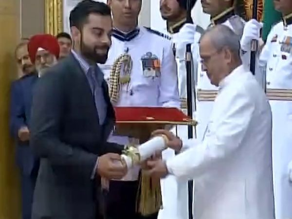 Virat Kohli Receives Padma Shri Award