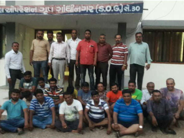 Gandhinagar Police Raid At Farm House Arrested 17 Person Gambling