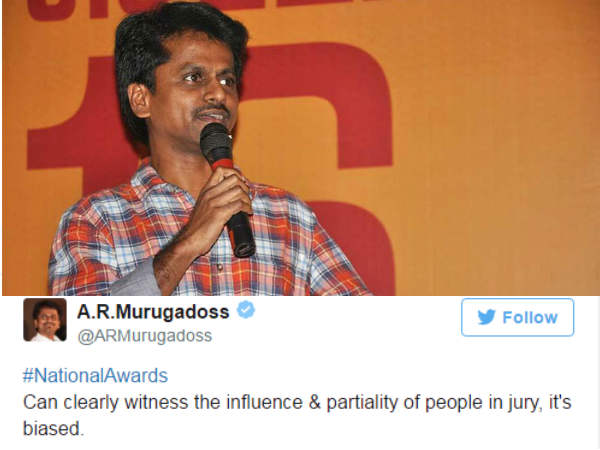 A R Murugadoss Expresses His Displeasure Over Akshay Kumar S National Award