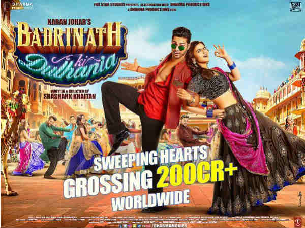 Badrinath Ki Dulhania Reached 200 Crore Mark On Box Office