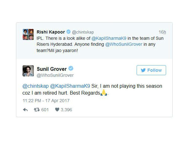 sunil grover tweet