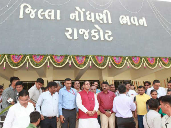 Cm Vijay Rupani Rajkot Visit Inauguration Programme
