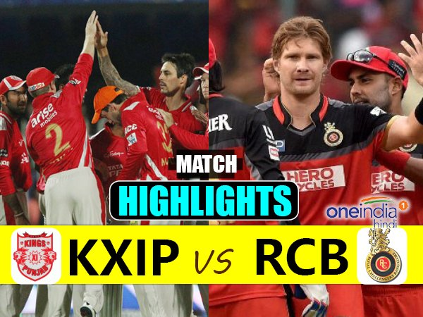 Ipl 2017 Match 8 Highlights Royal Challengers Bangalore Vs Kings Eleven Punja