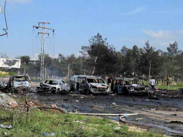 People Died In The Blast Near Buses Outside Aleppo City In Syria
