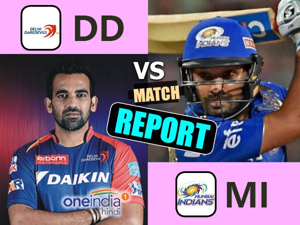 Ipl 2017 Mumbai Indians Vs Delhi Daredevils 25th Match Live Score From Wankhede Stadium Mumbai