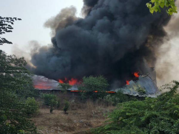 Bharuch Huge Fire Broke In Dyeing Company Ankleshwar