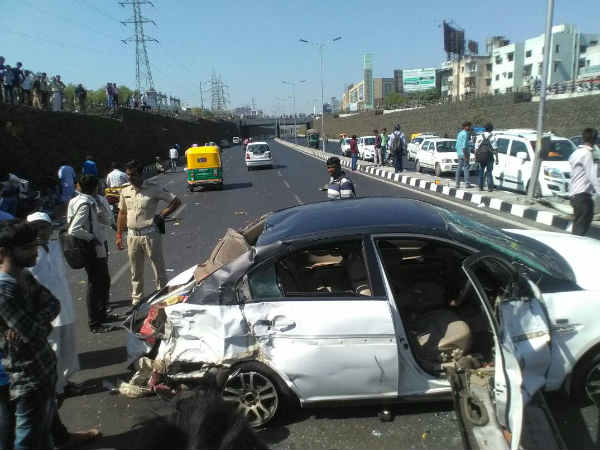 Ahmedabad Car Bike Accident At Sg Highway 7 Injured